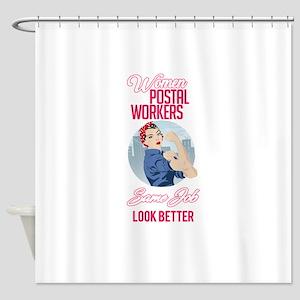 Women Postal Workers Shower Curtain