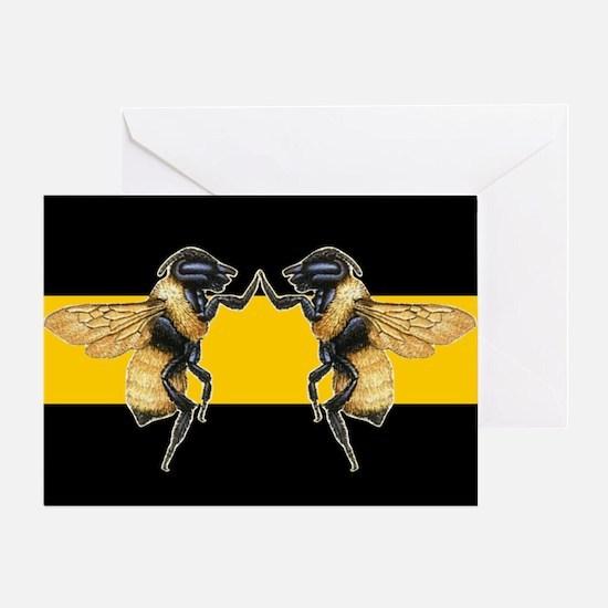 Dancing Bees Greeting Card