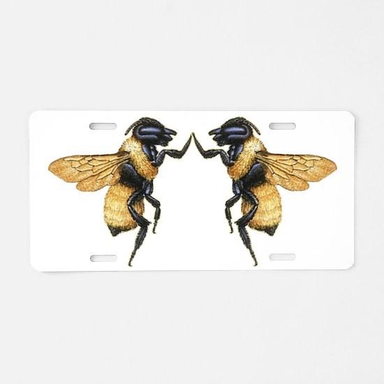 Dancing Bees Aluminum License Plate
