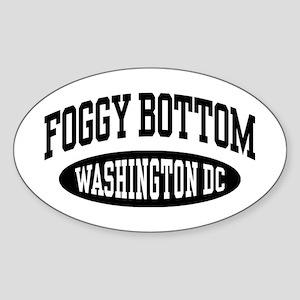 Foggy Bottom Washington DC Sticker (Oval)