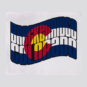 Breckenridge Colorado Flag Throw Blanket