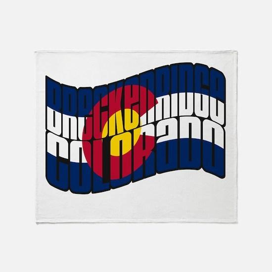 Breckenridge Colorado Flag Throw Blanket