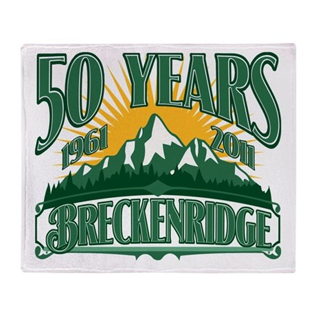 Breckenridge Green Mountain Throw Blanket