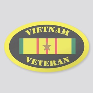 Vietnam Veteran 1 Campaign Star Sticker (Oval)