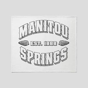 Manitou Springs Old Style Whi Throw Blanket