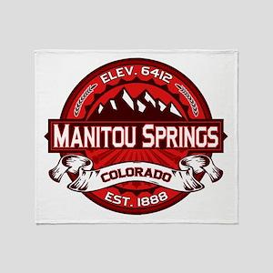 Manitou Springs Red Throw Blanket