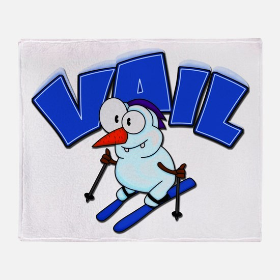 Vail Snowman Throw Blanket