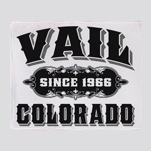 Vail Since 1966 Black Throw Blanket