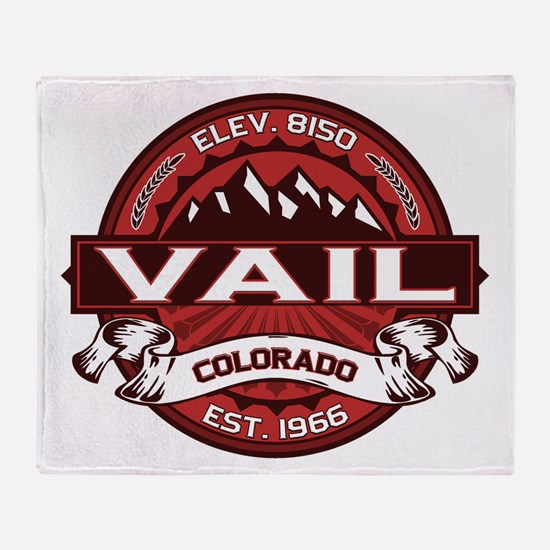 Vail Red Throw Blanket
