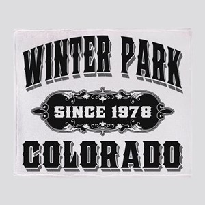 Winter Park Since 1978 Black Throw Blanket