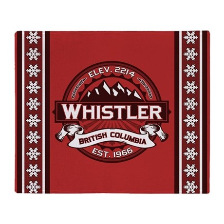 Whistler Red Throw Blanket