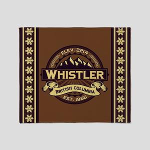 Whistler Sepia Throw Blanket