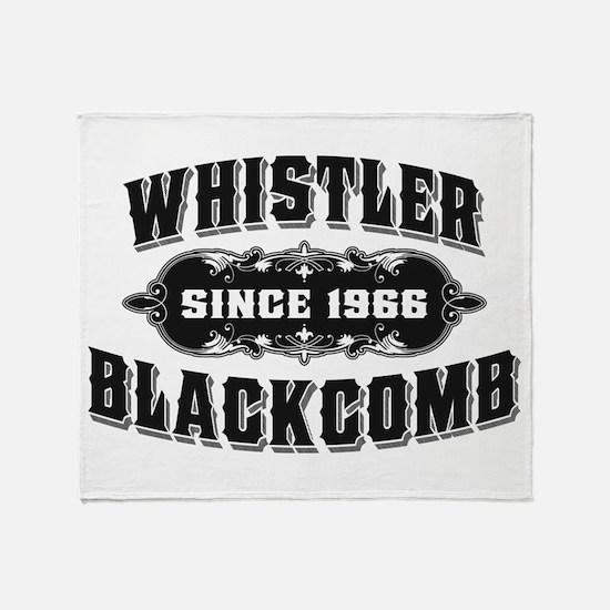Cute Whistler Throw Blanket