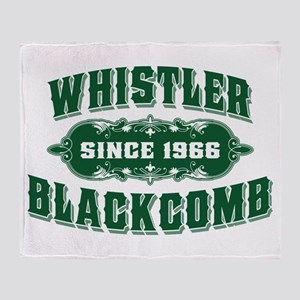 Whistler Blackcomb Old Green Throw Blanket