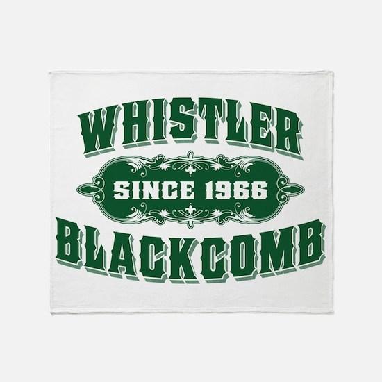 Whistler Blackcomb Old Green Throw Blanket