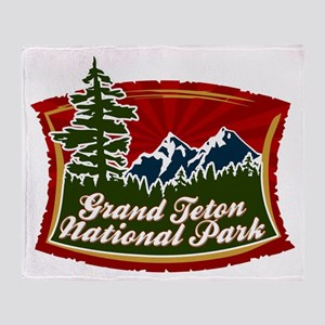 Grand Teton Mountains Throw Blanket