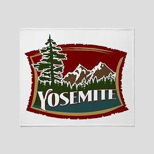 Yosemite Mountains Throw Blanket