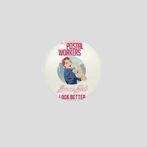 Women Postal Workers Mini Button
