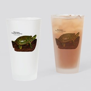 Western Painted Turtle Drinking Glass