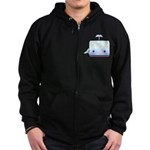 Boxy the Whale Zip Hoodie (dark)