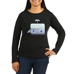 Boxy the Whale Women's Long Sleeve Dark T-Shirt
