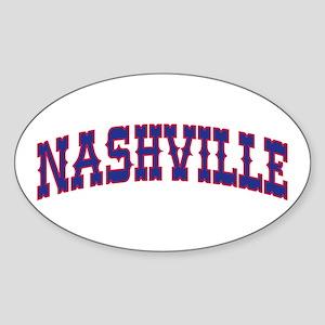 NASHVILLE Oval Sticker