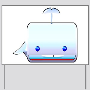 Boxy the Whale Yard Sign