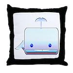 Boxy the Whale Throw Pillow