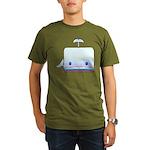 Boxy the Whale Organic Men's T-Shirt (dark)