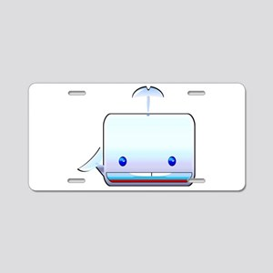 Boxy the Whale Aluminum License Plate