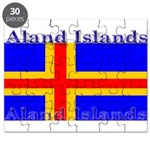 Aland Islands Flag Puzzle