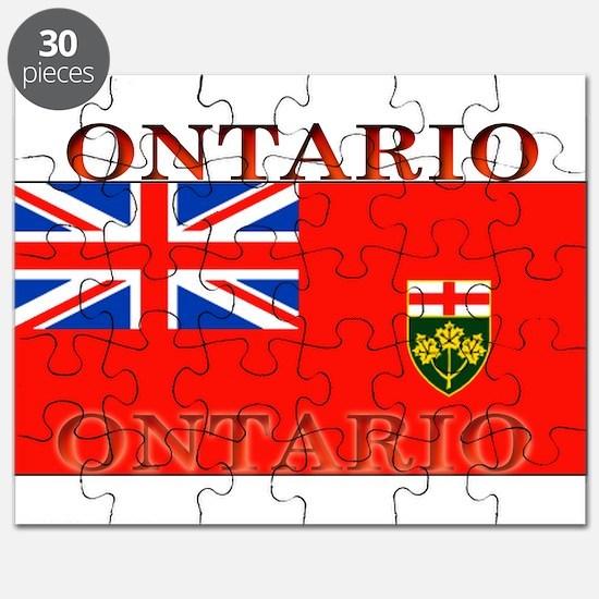 Ontario Ontarian Flag Puzzle