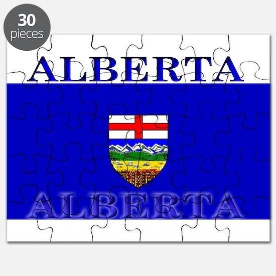 Alberta Albertan Flag Puzzle