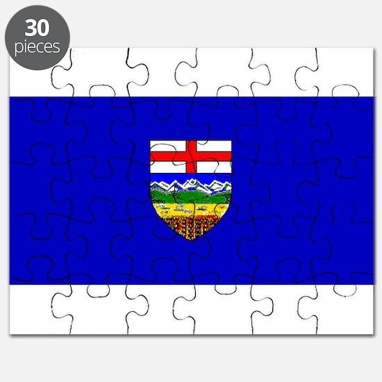 Alberta Albertan Blank Flag Puzzle