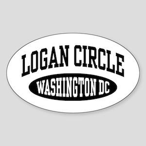 Logan Circle Washington DC Sticker (Oval)
