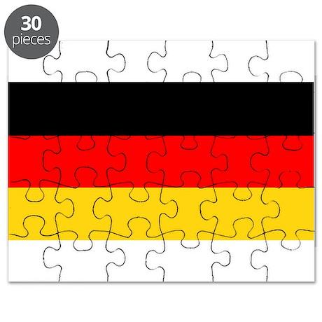 Germany German Blank Flag Puzzle
