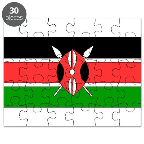 Kenya Kenyan Blank Flag Puzzle