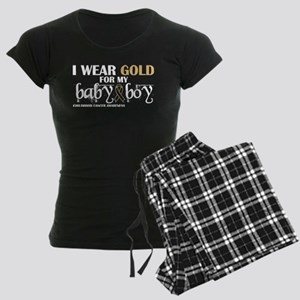 I Wear Gold My Baby Boy Childhood Cancer A Pajamas