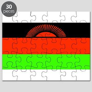 Malawi Blank Flag Puzzle