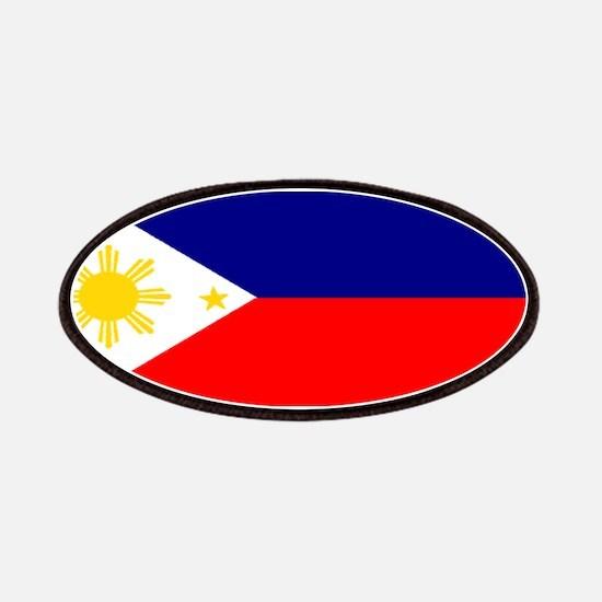 Filipino Pilipinas Blank Flag Patches