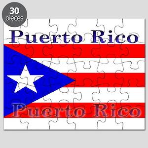 Puerto Rico Rican Flag Puzzle