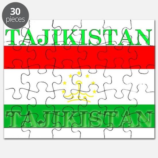 Tajikistan Tajikistani Flag Puzzle