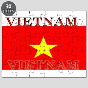 Vietnam Vietnamese Flag Puzzle