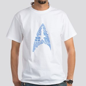 Star Trek Quotes (Insignia) White T-Shirt