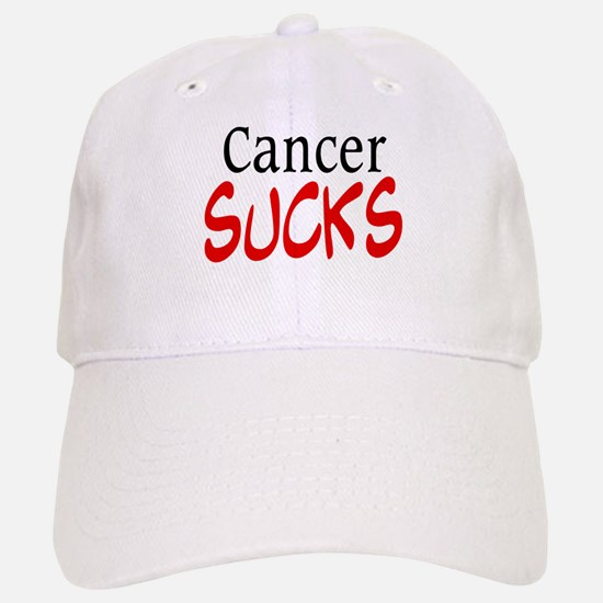 Cancer Sucks on a Baseball Baseball Cap
