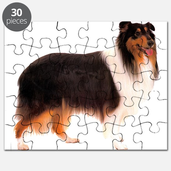 Black Rough Collie Puzzle