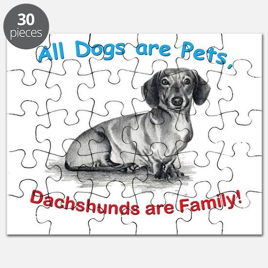 Dachshund Dachshunds Family Puzzle