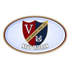 USS Skagit Sticker (Oval)