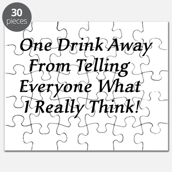 One Drink Away Drunk Puzzle