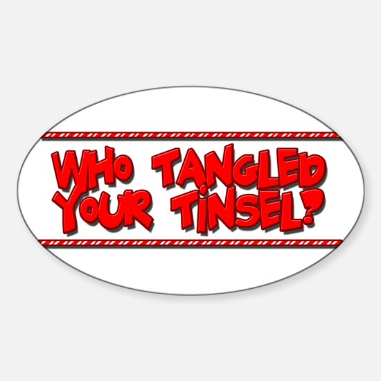 Tangled Tinsel Sticker (Oval)